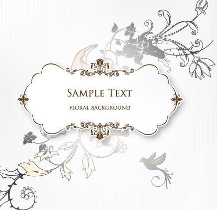 free clean and elegant vector floral frame titanui - Elegant Frames