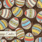 Colorful Easter Egg Background Vector 04