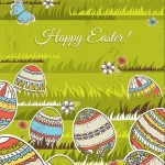 Colorful Easter Egg Background Vector 05