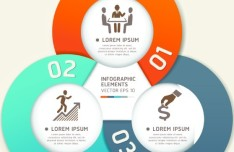 Vector Infographic Step By Step Elements 01