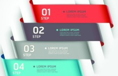 Vector Infographic Step By Step Elements 02
