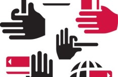 Itunes Radio Icon Vector Red Gesture Icons Vector
