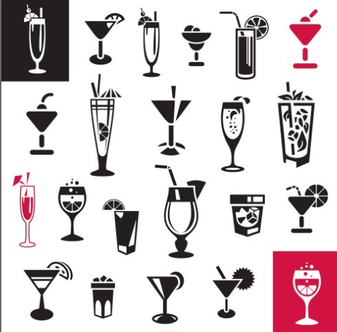 Free Black and White Juice Icons Vector - TitanUI