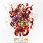 Elegant Colorful Spring Flower Background 04