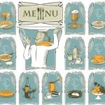Elegant Vintage Restaurant Menu Vector Design 01