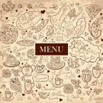 Elegant Vintage Restaurant Menu Vector Design 03
