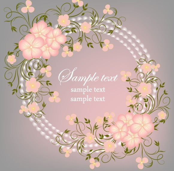 Free Simple And Elegant Flower Vector Background 04
