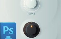 Black And White Volume Knobs PSD