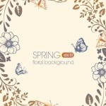 Primitive Simplicity Spring Flower Background Vector 04