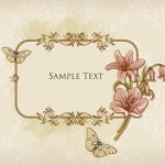 Simple and Clean Vector Floral Border and Frame 02