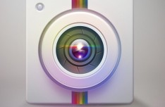 Colored Camera Lens Icon PSD