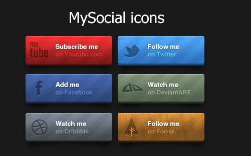 Free elegant social follow us buttons psd titanui for Follow us on instagram template