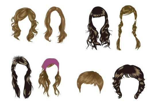 Free Vector Women's Hairstyles - TitanUI