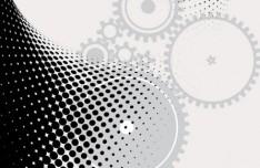 Technology Pattern Gear Vector Background 01