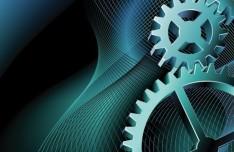 Technology Pattern Gear Vector Background 03
