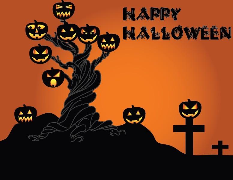 free cartoon happy halloween scary elements vector 08 titanui - Happy Halloween Cartoon Pics