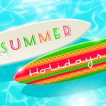 Colorful and Clean Vector Happy Summer Holiday Elements 02