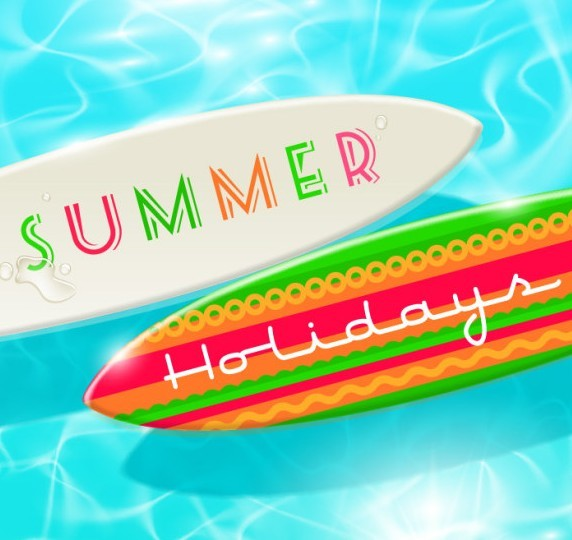 Free Colorful And Clean Vector Happy Summer Holiday Elements 02
