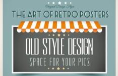 Vintage Promotional Poster Vector Template Design 05