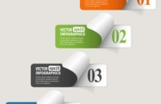 Creative Vector Origami Option Label For Infographic 06