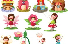 Lovely Cartoon Kids Vector Illustrations