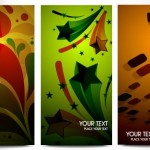 Set of Vector Elegant Vertical Banners with Colorful Backgrounds 01