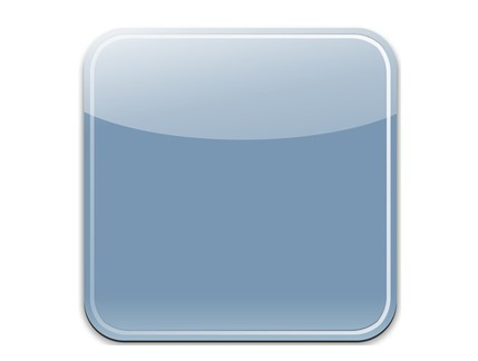 Free sleek blue blank ios app icon psd template titanui for Iphone app logo template
