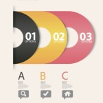 Vector Infographic Number Option Labels 04