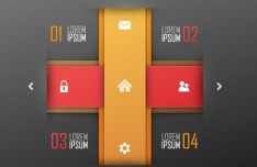Vector Infographic Number Option Labels 06