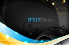 Vector Trendy Abstract Background with Wavy Curves 09