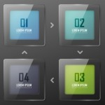 Colorful Vector Infographic Paper Number Labels 04