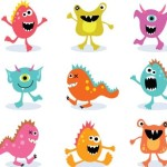 Lovely Cartoon Grimace Icons Vector 02