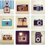 Vector Flat Old Camera Design Elements 04