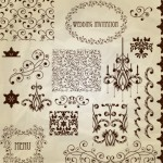 Vector Vintage Floral Border and Corner Design Elements 01