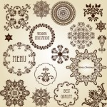 Vector Vintage Floral Border and Corner Design Elements 02
