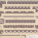Vector Vintage Floral Border and Corner Design Elements 03