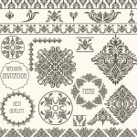 Vector Vintage Floral Border and Corner Design Elements 05