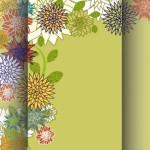 3D Vintage Flower Background Vector
