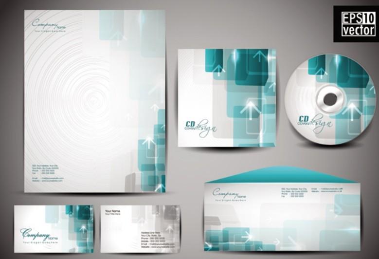 Free Vector Corporate Identity Design Template 01 - TitanUI