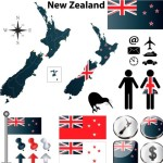 Vector New Zealand Information Graphic Elements