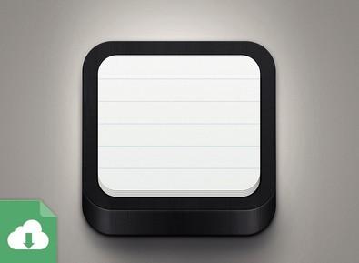 Free 3d notebook app icon psd titanui - Google chrome 3d home design app ...