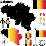 Vector Belgium Information Graphic Elements