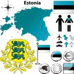 Vector Estonia Information Graphic Elements