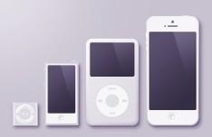 Apple Handheld Device PSD Template