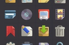 Flat Web Icon Set PSD