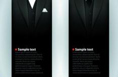 Noble Menswear Brand Card Design Template Vector 03