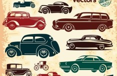 Retro High Quality Vector Car Labels