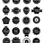 Simple Dark Vector Badge Collection
