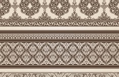 Vector Vintage Royal Floral Design Elements 02