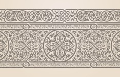Vector Vintage Royal Floral Design Elements 03